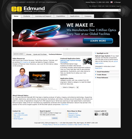 Edmund Optics, Inc. - Home Page