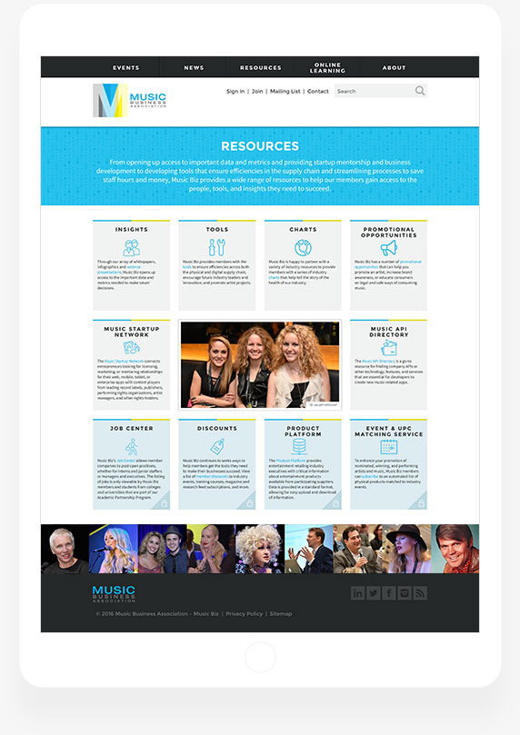 Music Business Association - Resources Page